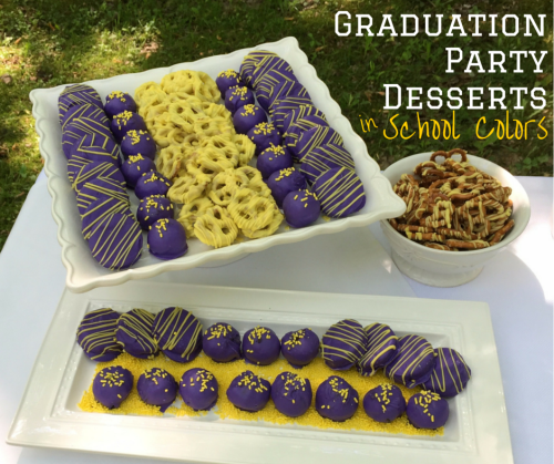 Graduation Party Desserts in School Colors - 8