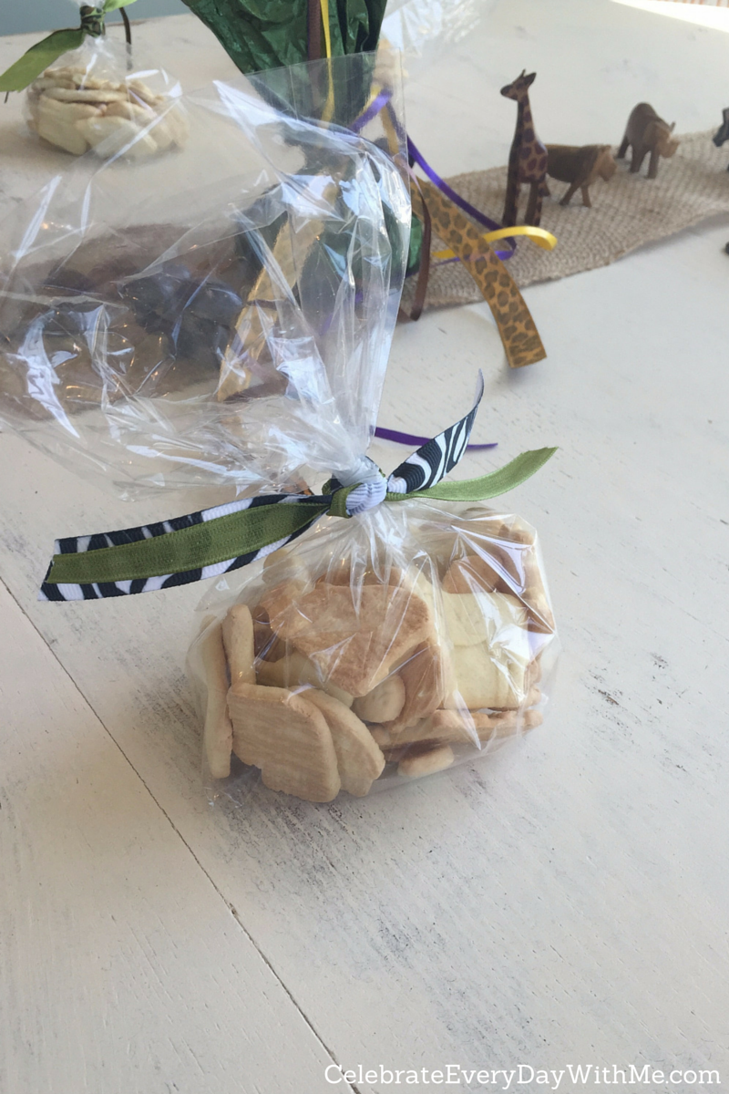 Baby Shower Favors With Animal Crackers ~ Safari themed baby shower celebrate every day with me