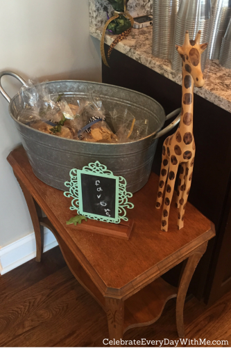 safari themed baby shower favors