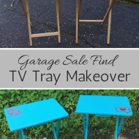 Great Garage Sale Finds:  TV Tray Makeover
