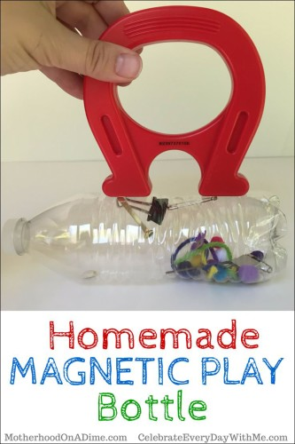 Homemade Magnetic Play Bottle - fun and educational project for the kiddos
