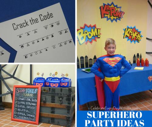 SUPERHERO PARTY IDEAS-