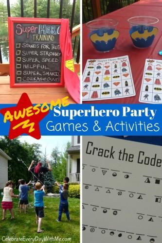 Superhero Party Games & Activities