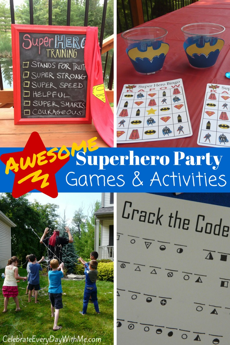 Awesome Superhero Party Games