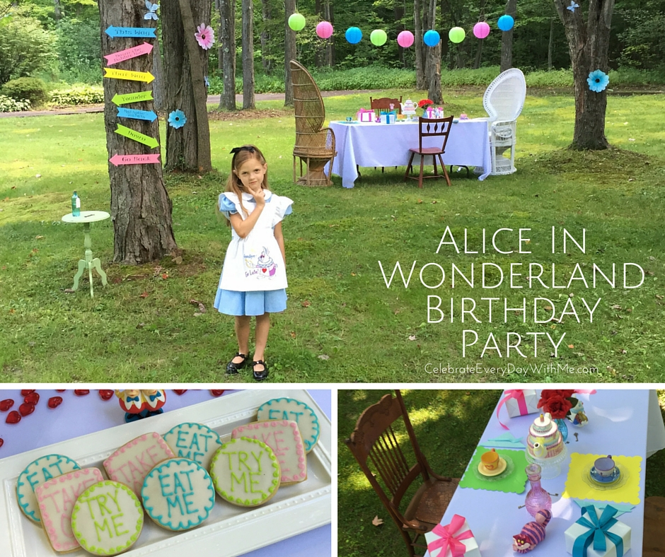 Alice In Wonderland Party Celebrate Every Day With Me