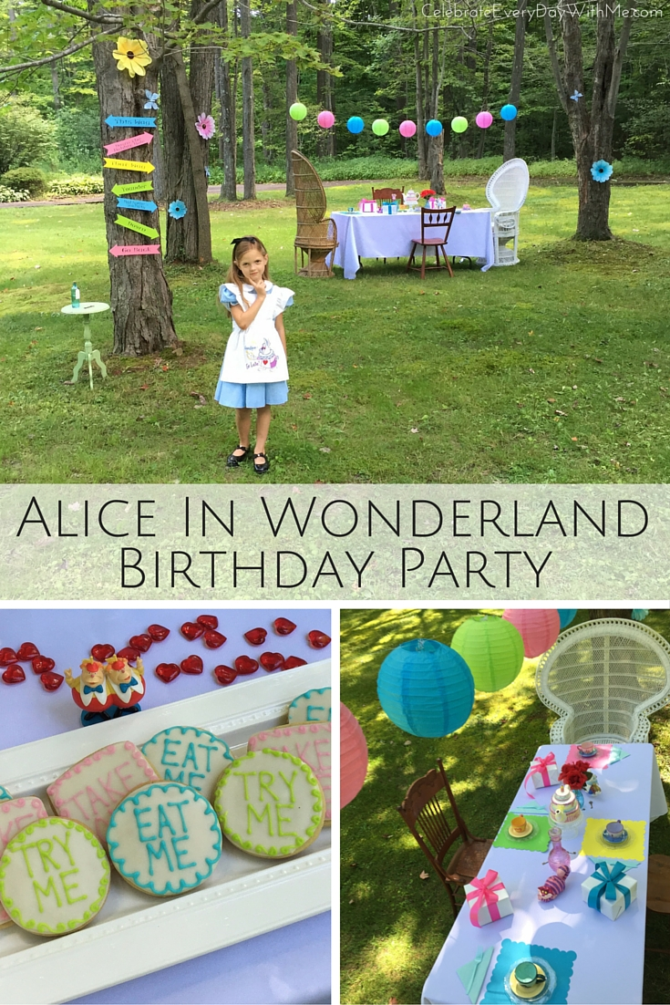 Alice In Wonderland Book Day Ideas : Alice in wonderland party celebrate every day with me