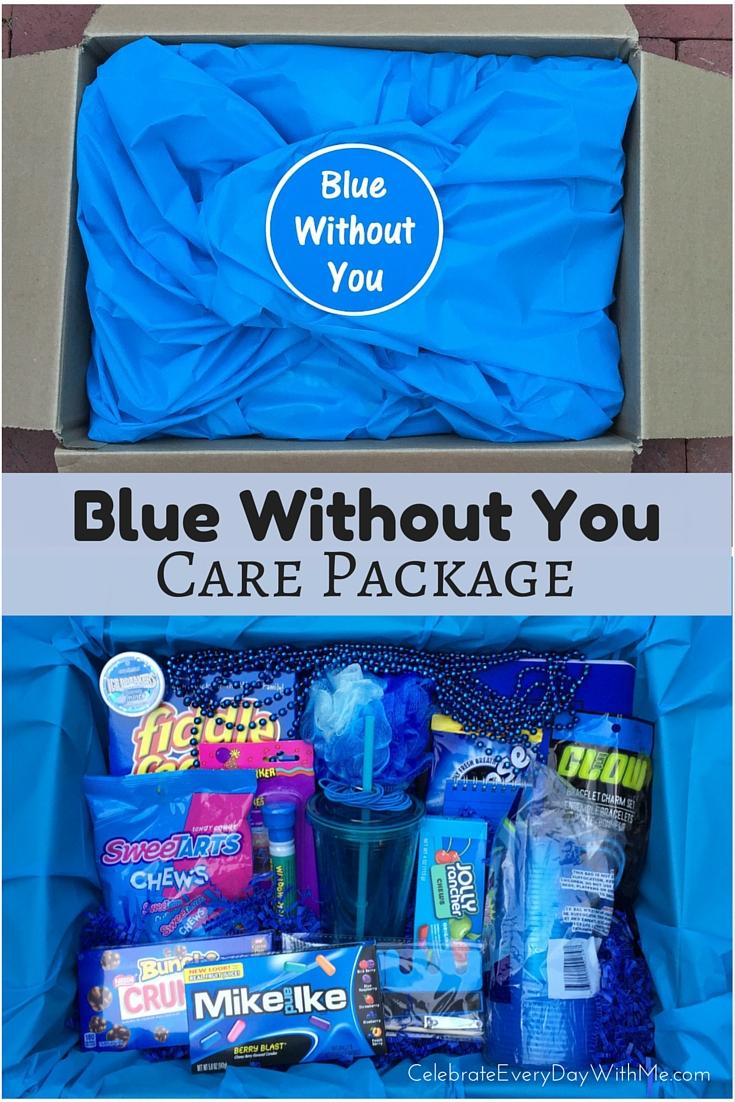 Dark Blue Window Cake Box