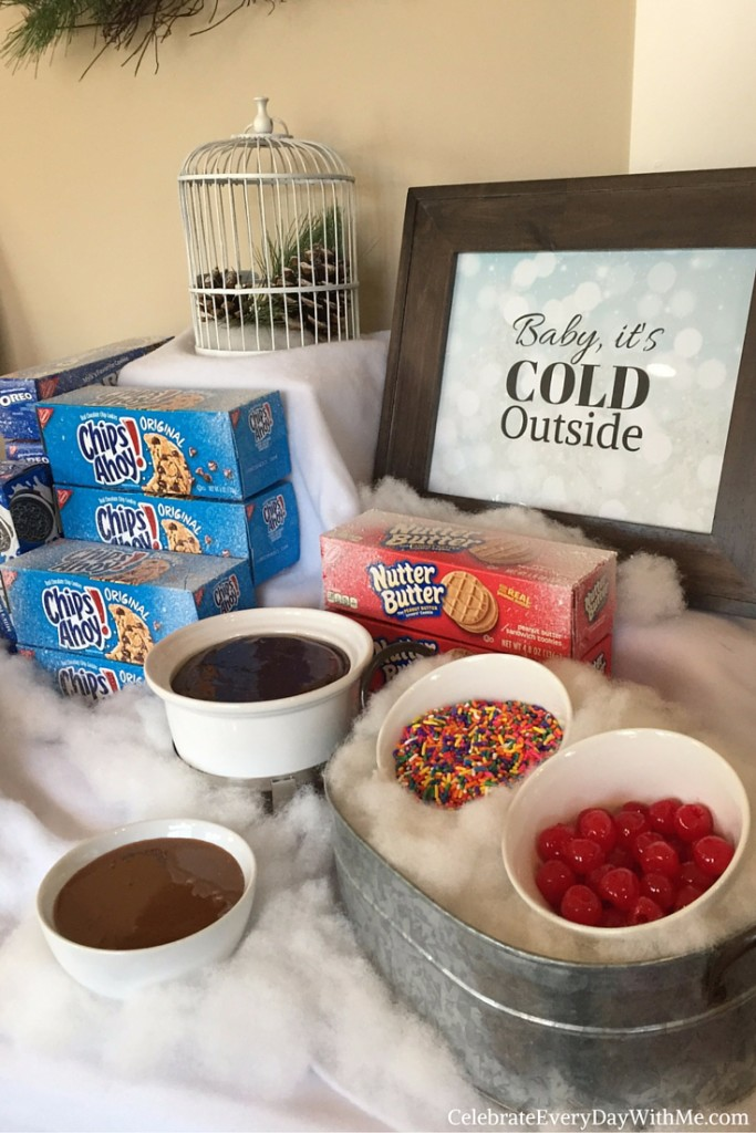 Winter Wonderland Party with Cookie Ice Cream Sundae Bar 6