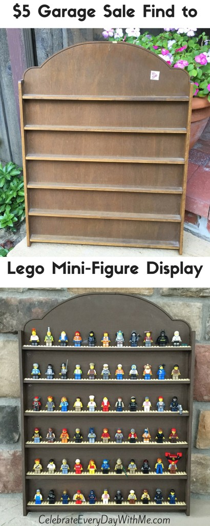 $5 Garage Sale Find to Lego Mini-Figure Display