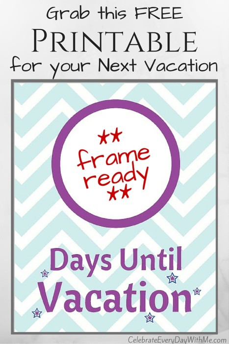 graphic about Countdown Printable titled Crank out an Simple Enjoyment Holiday Countdown with Free of charge Printable