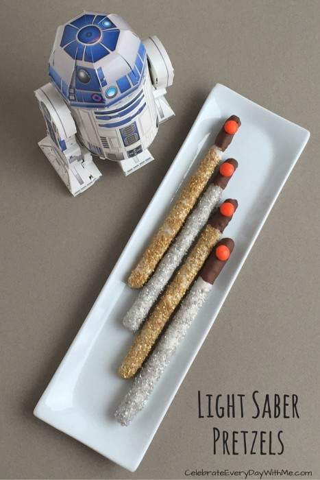 Light Saber Pretzels - Star Wars Snacks