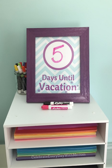 Vacation Countdown Chevron