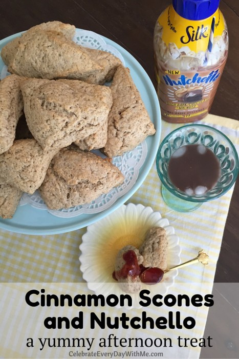 Cinnamon Scones and Nutchello - a yummy afternoon treat (1)