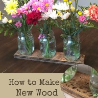 How to Make New Wood Look Worn for a Rustic Split Bouquet