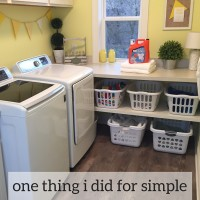 One Thing I Did for Simple and Easy Laundry Organization