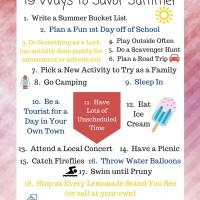 19 Ways to Savor Summer