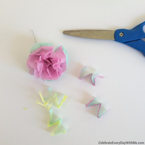 How to make a flower crown with tissue paper (20)
