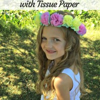 How to Make a Flower Crown with Tissue Paper
