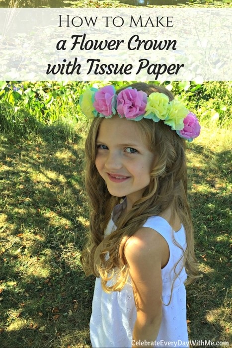 How to make a flower crown with tissue paper - so cute!! (5)