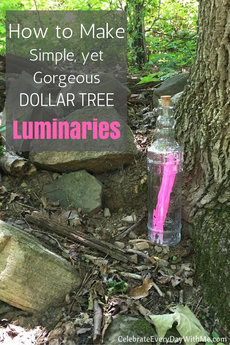 How to Make Simple, Yet Gorgeous Dollar Tree Luminaries