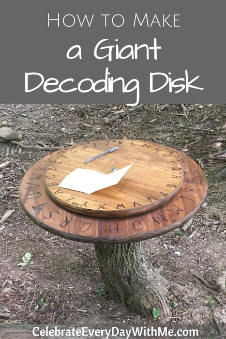 How to make a giant decoding disk (40)