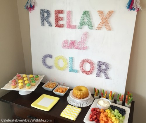 How to throw an AMAZING coloring party (11)