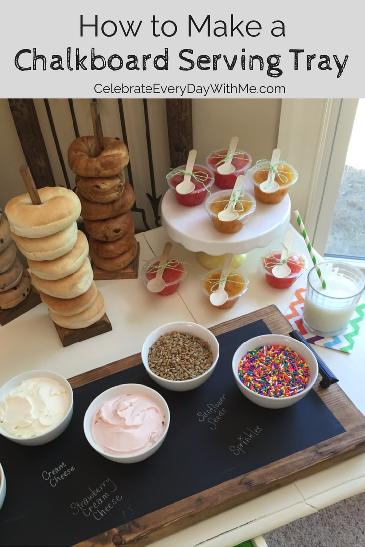 How to Make a Chalkboard Serving Tray for a Fun Kids' Breakfast