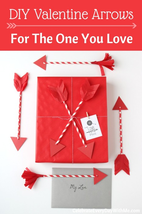 DIY Valentine Arrows for the One You Love - tutorial