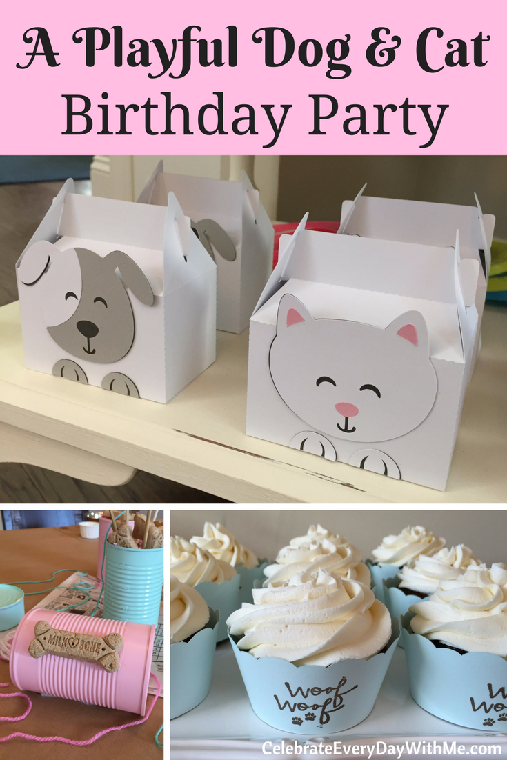 A Playful Dog and Cat Birthday Party