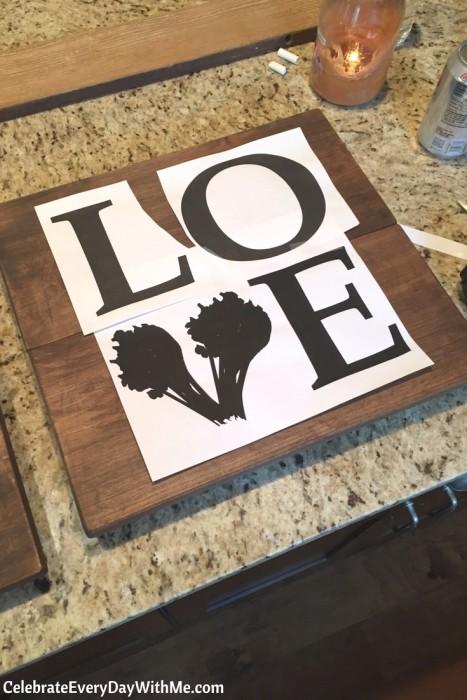 DIY Rustic Love Signs (5b)