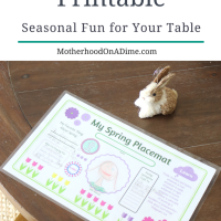 Spring Placemat Printable:  Seasonal Fun for your Table