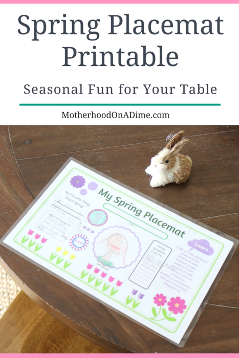 Spring Placemat Printable - Motherhood On A Dime