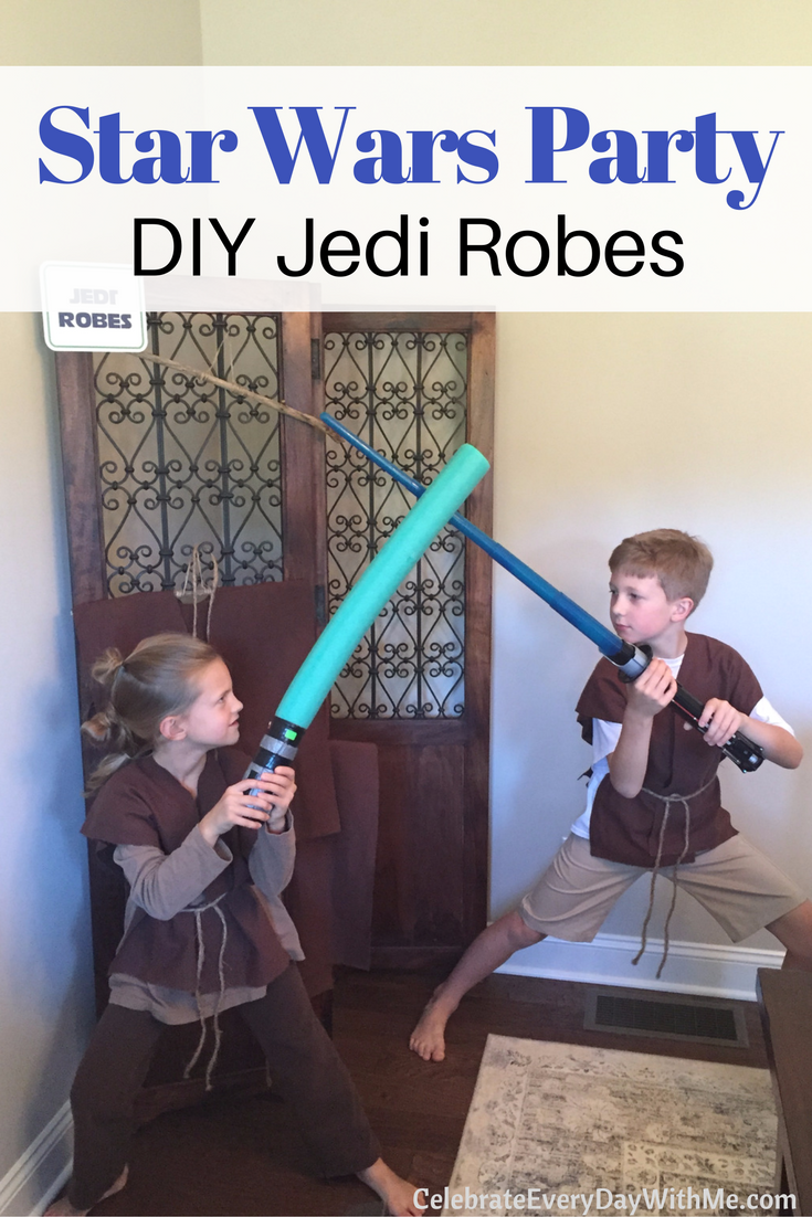 How To Make A No Sew Jedi Robe Celebrate Every Day With Me
