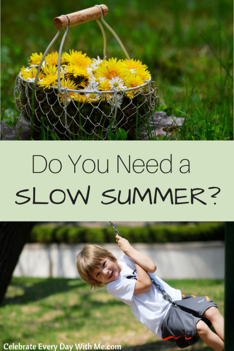 Do you need a SLOW SUMMER-