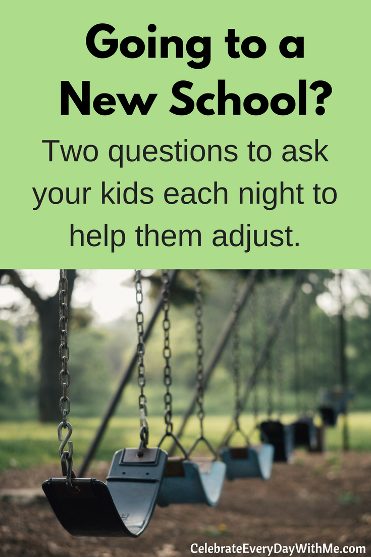 How to Help Your Kids Adjust to a New School with Two Daily Questions