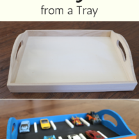 How to Make an Awesome Hot Wheels Parking Lot from a Tray