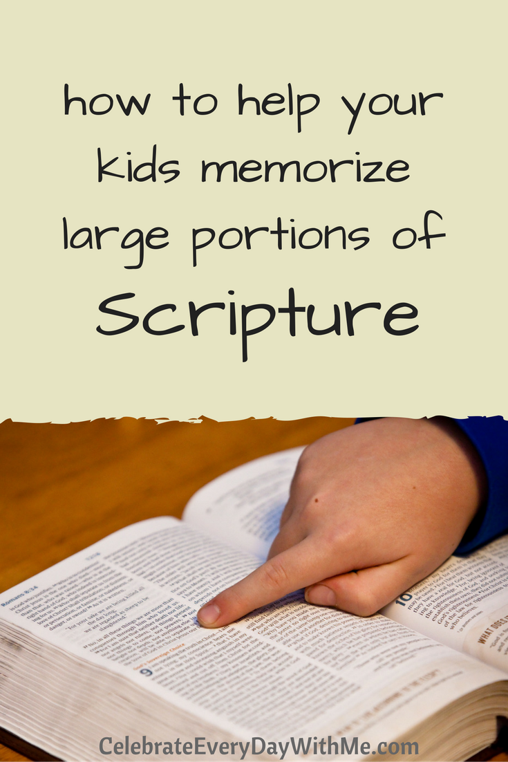 How to Help Your Kids Memorize Large Portions of Scripture