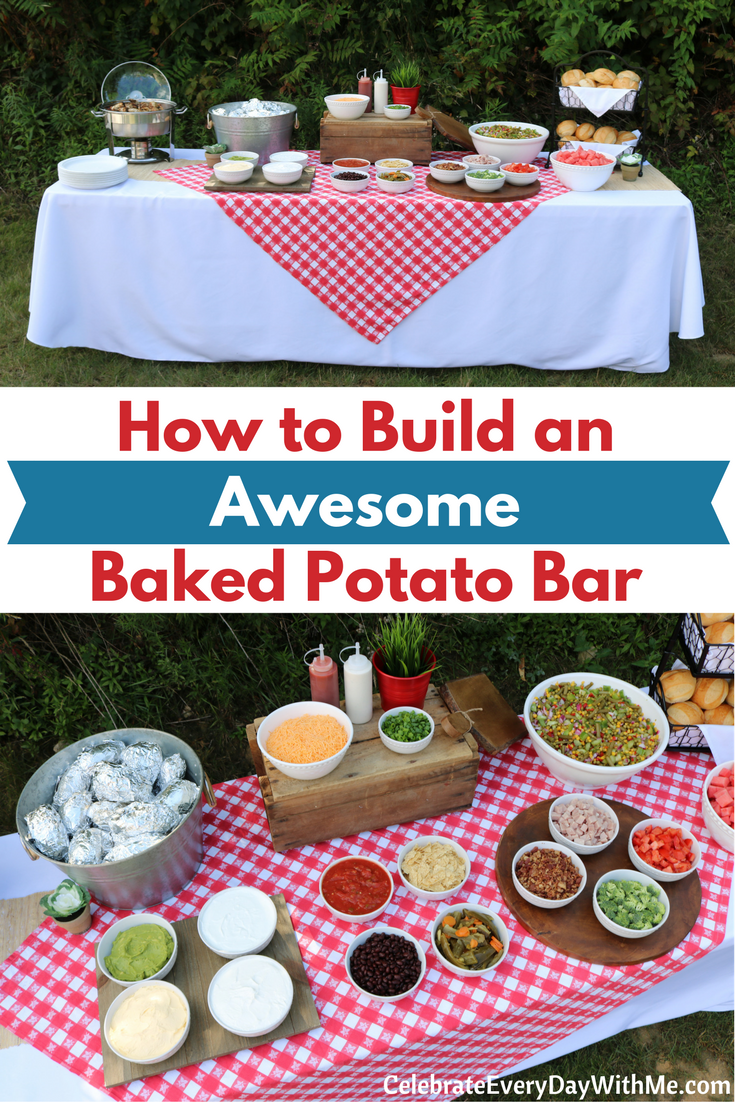 How To Build An Awesome Baked Potato Bar - Celebrate Every ...