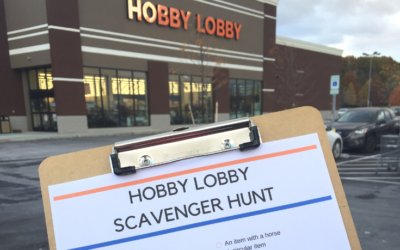 Hobby Lobby Scavenger Hunt for Kids